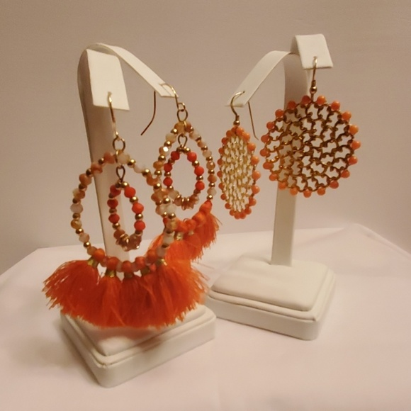 Jewelry - Set of 2 Fun Summer Orange Earrings